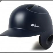 윌슨 타자헬멧 무광 네이비 좌귀(우타자용)