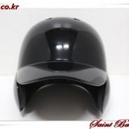 [대한민국생산] 경량 타자 양귀 헬멧 유광 블랙